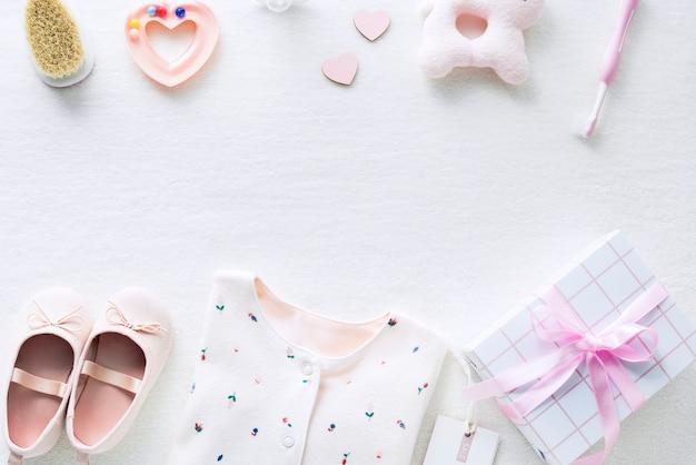 Babyparty für mädchenhintergrund