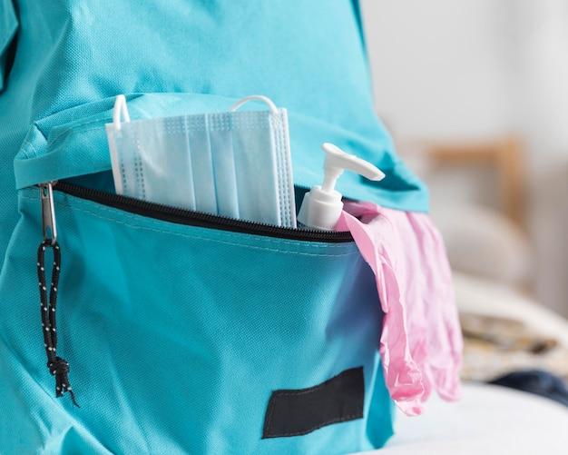 Back to school zubehör sortiment in neuen normalen zeiten