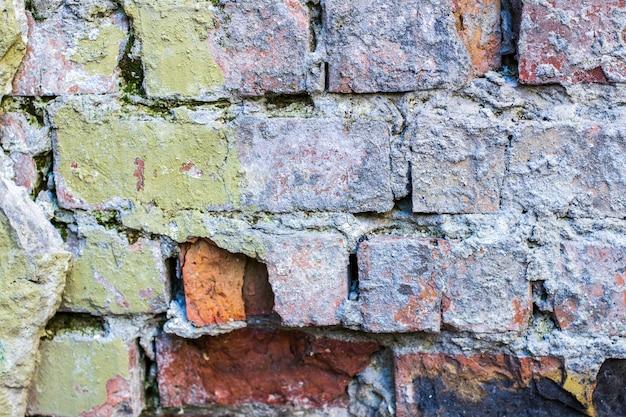 Backstein alten mauer hintergrund.