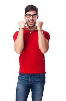 Bad boy mit handschellen