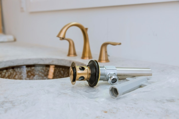 Bad, sanitär-reparaturservice, waschbecken montieren und einbauen