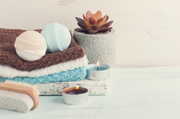 Badebomben, spa-zusammensetzung