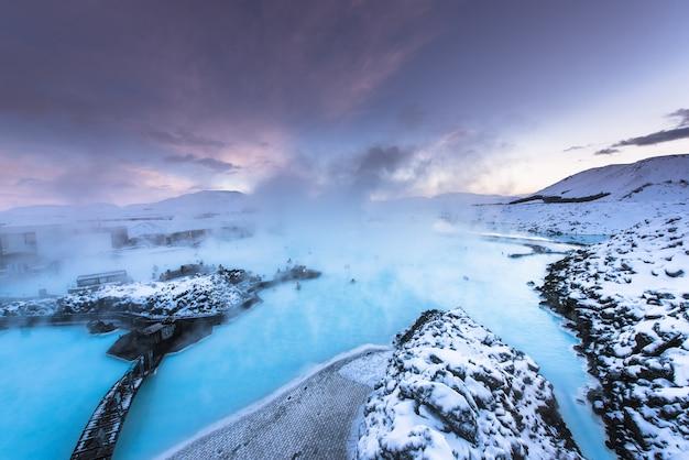 Badekurort island der heißen quelle der blauen lagune
