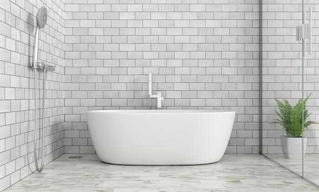 Badezimmerinnenbadewanne, wiedergabe 3d