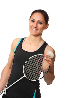 Badmintonspieler porträt