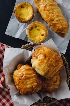 Bäckerei auf dem tisch
