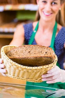 Bäckerei verkäuferin angebot brot