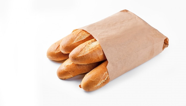 Baguettebrot in papiertüte