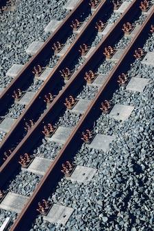 Bahngleise auf der straße
