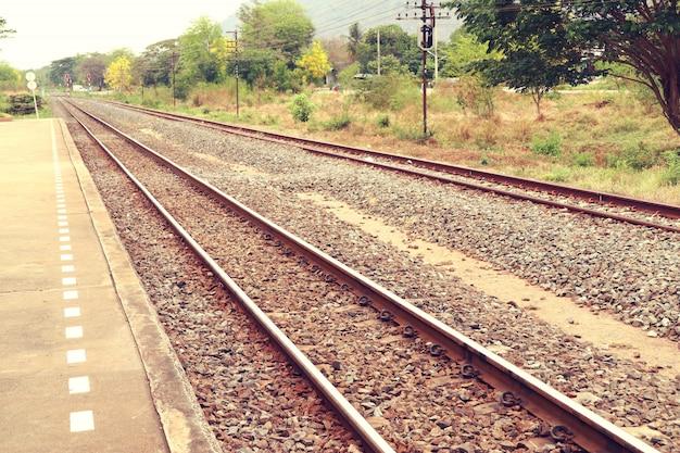 Bahnhof und bahn