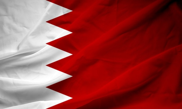 Bahrain flagge auf satin textur.