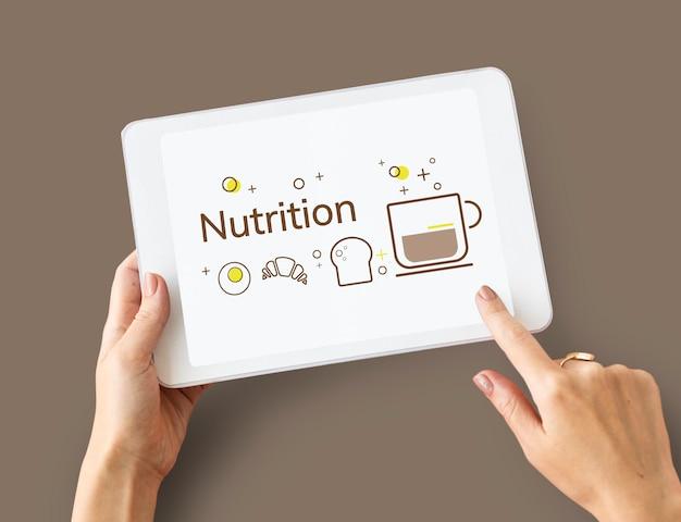 Balance-diät-gesundes ernährungskonzept