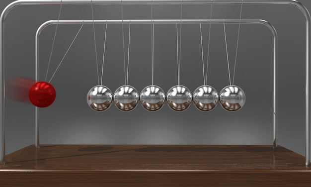 Balanceball newtons wiegenpendel
