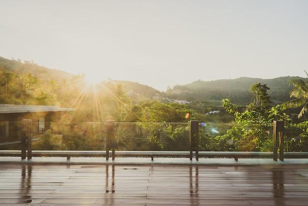 Balkon im freien