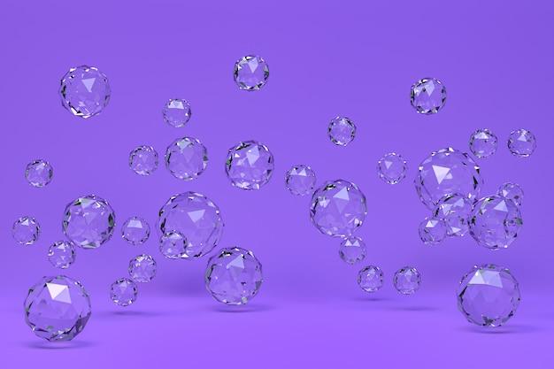Ball abstrakt auf lila hintergrund