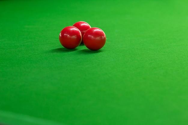 Ball rot und snooker-spieler