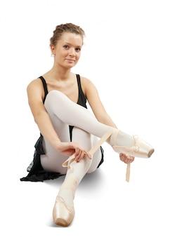 Ballerina setzt auf pointe