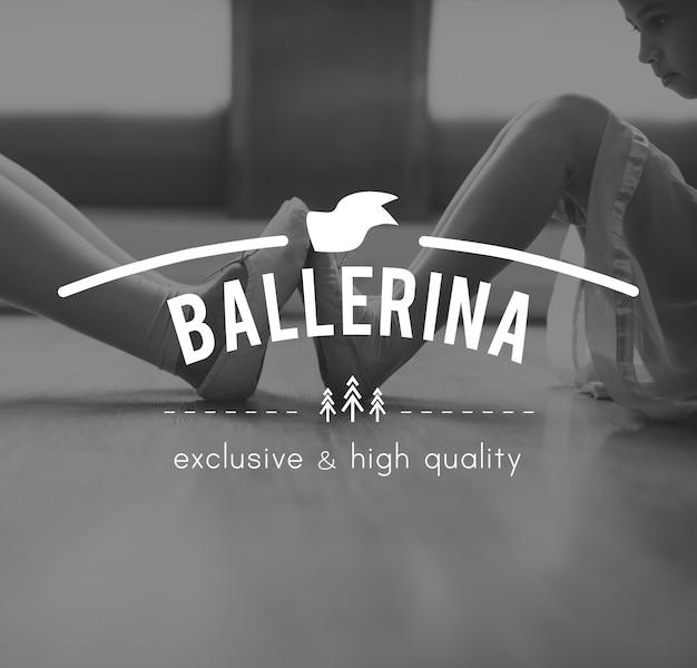 Ballerina-training führen sie eleganz-ikone durch