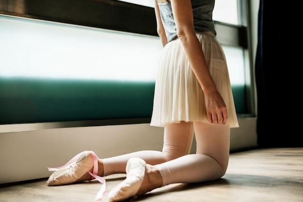 Ballerina-übungs-ballett-schulkonzept