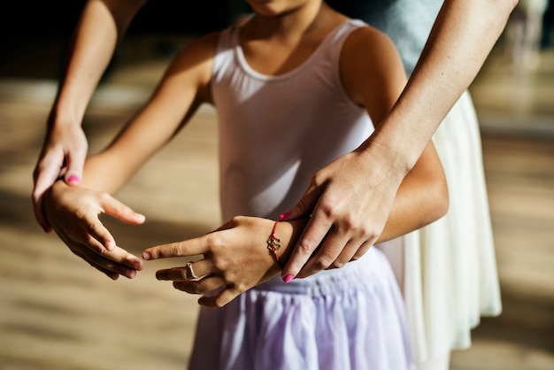 Ballett-tänzer training school-konzept