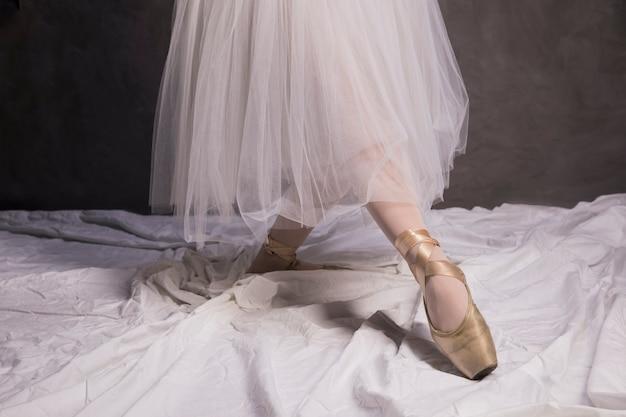 Ballettschuhe und rock hautnah