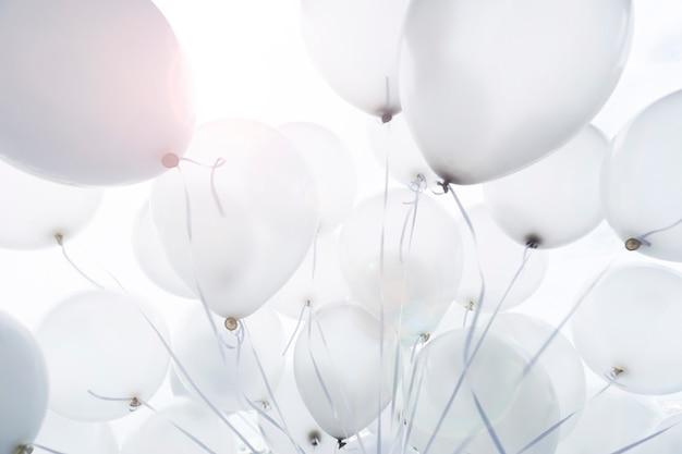 Ballondekoration für partei, ballonhintergrund