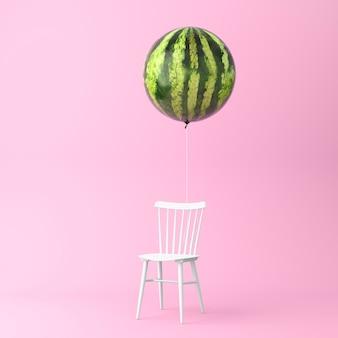 Ballonwassermelone mit stuhlkonzept