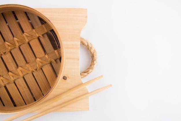 Bambuskörbe zum dämpfen von speisen