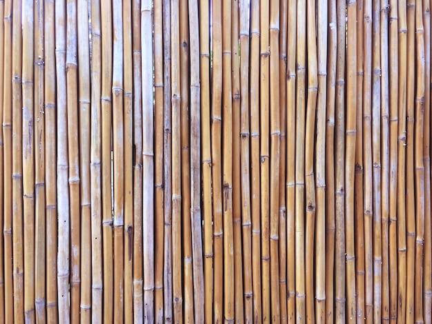 Bambuswand- oder bambuszaunbeschaffenheitshintergrund