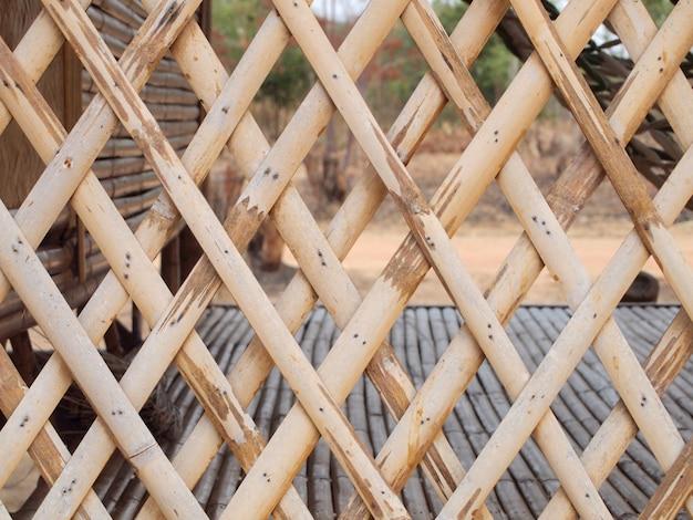 Bambuszäune in ländlichen gebieten.