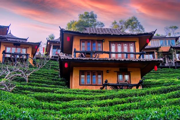 Ban rak thai eine chinesische siedlung in der provinz mae hong son nordthailand
