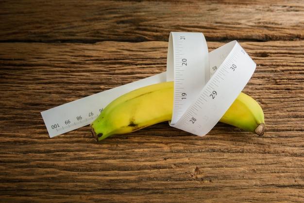 Banana length männlichen genitalen konzept einer werbung kann verwendet werden)