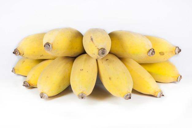 Banane auf weißem hintergrund.