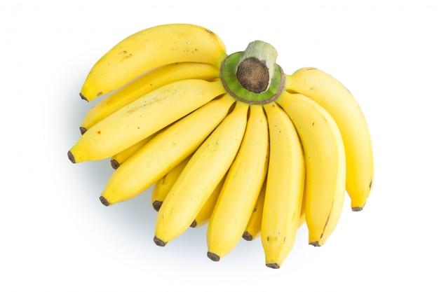 Banane getrennt auf weißem hintergrund