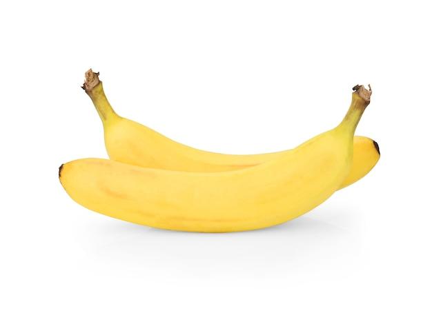 Banane isoliert auf weißem hintergrund, beschneidungspfad, volle schärfentiefe