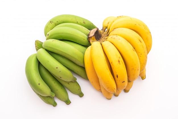 Banane isoliert auf weißem hintergrund
