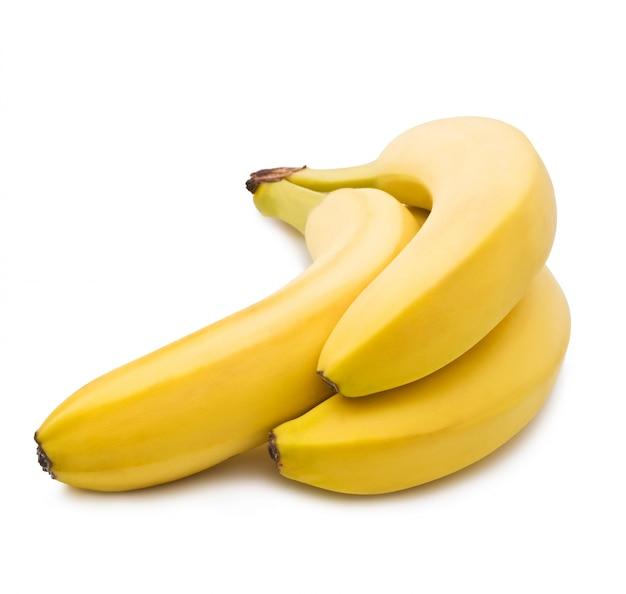 Bananen auf weiß