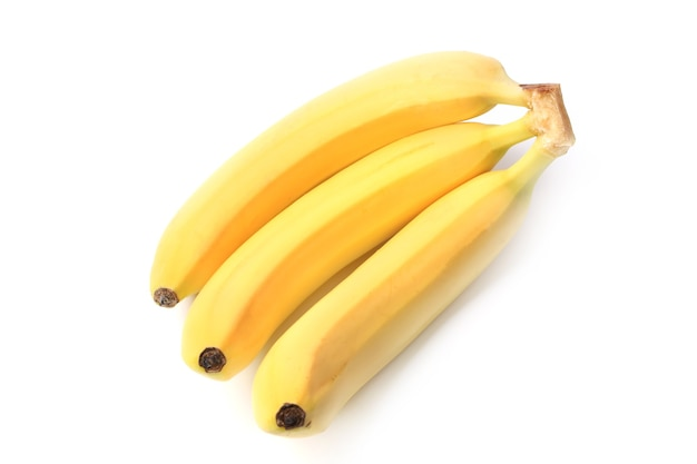Bananen isoliert auf weißem hintergrund