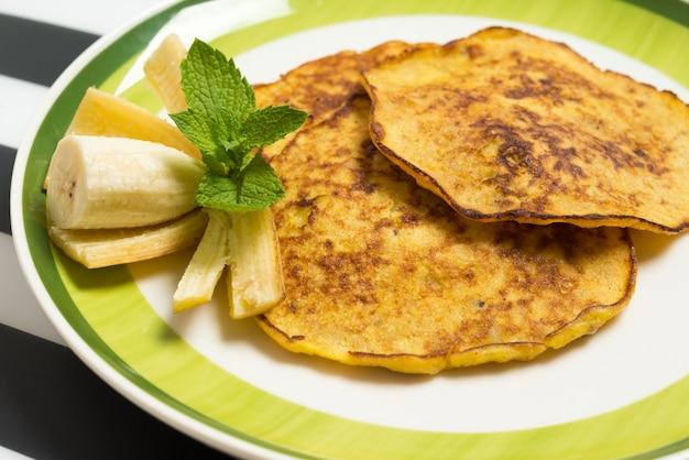 Bananenpfannkuchen nahaufnahme