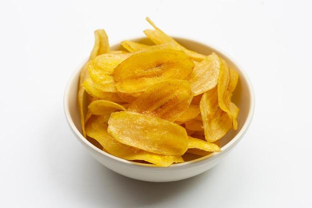 Bananenscheiben-chips.