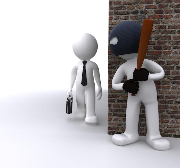 Bandit beraubt einen geschäftsmann