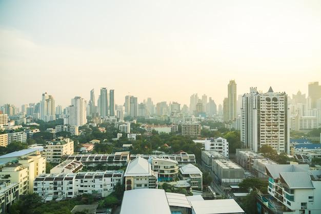 Bangkok skyline der stadt