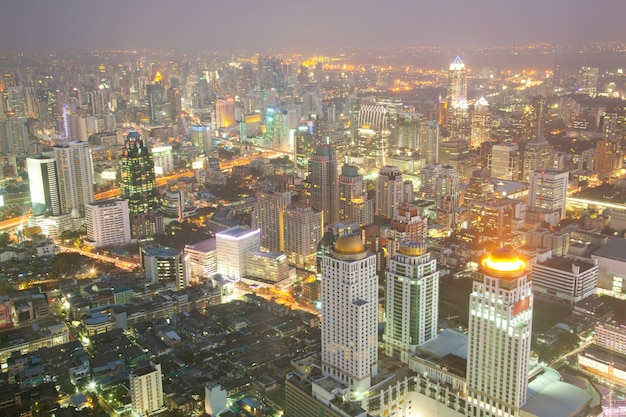 Bangkok skyline downtown