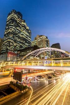Bangkok skyline im stadtzentrum