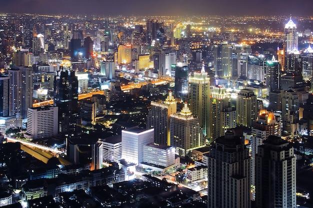 Bangkok skyline nacht