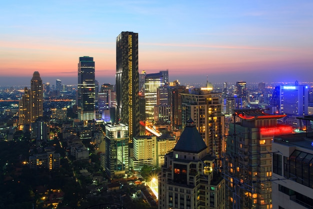 Bangkok skyline stadtbild