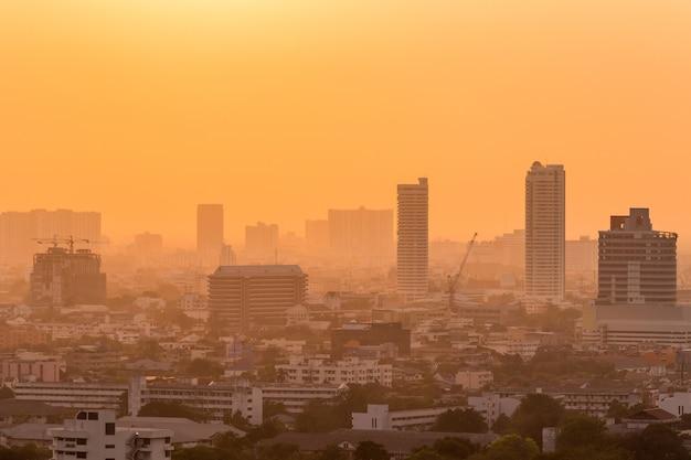 Bangkok sonnenuntergang blick