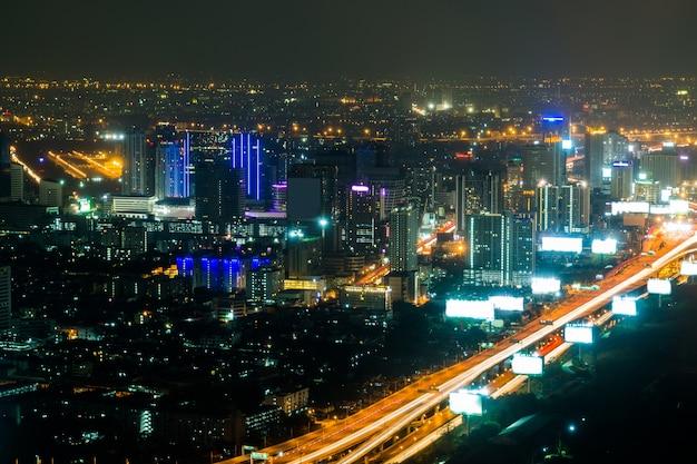 Bangkok stadt in der nacht, thailand in der nacht