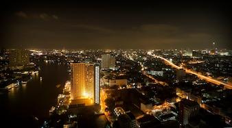 Bangkok-Stadtnachtansicht, Thailand
