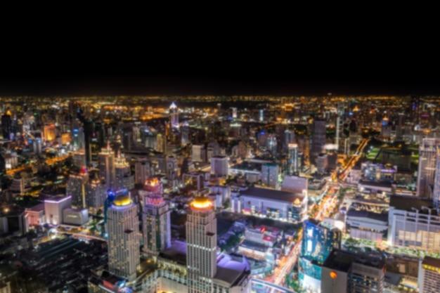 Bangkok thailand schnellstraße und skyline luftbild.